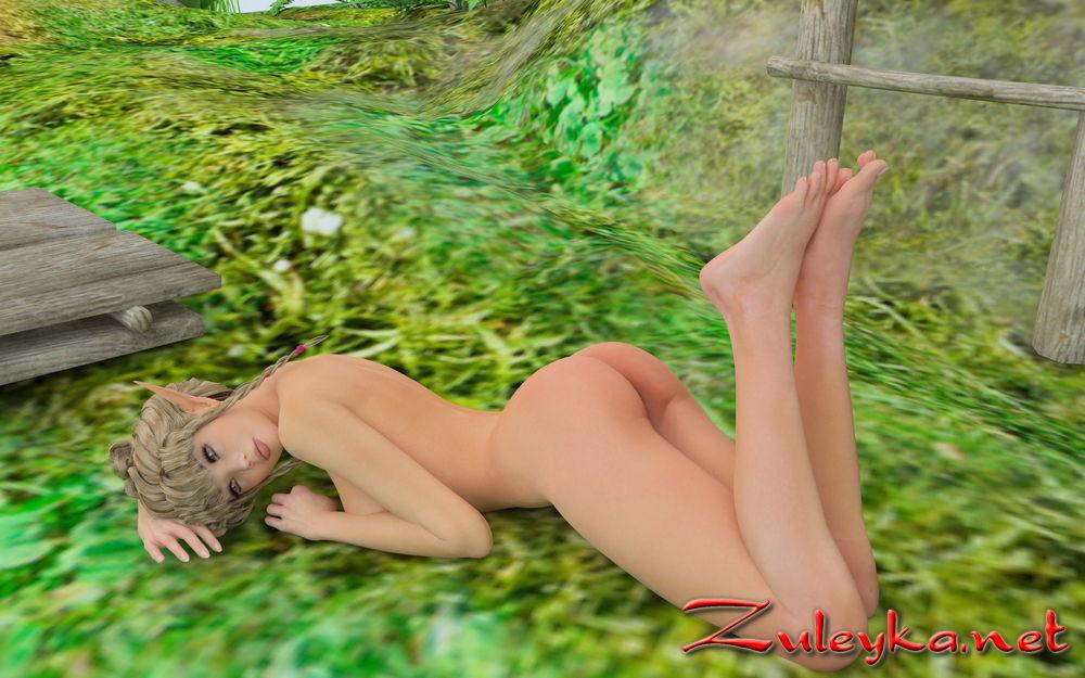 elf 3d erotic pinup