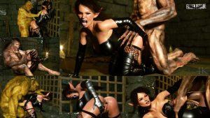 Domina Meets Monsters: Part 1   Fallen Heroine Series