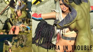 Jaina in Trouble   3D Comic